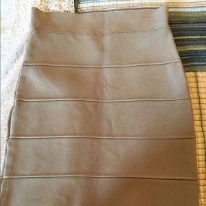 Bcbg bandage skirt tan